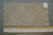 ANTIQUE VINTAGE FRENCH INTRICATE FLORAL TULLE NET ALENCON LACE SAMPLE TRIM TAG