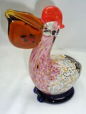 Studio Art Glass Pelican Fish Bird Sea Life Nautical Coastal Beach Marine Decor