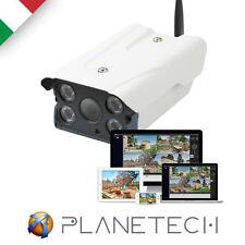 TELECAMERA IP WIRELESS P2P WIFI 4 LED IR INFRAROSSI HD INTERNO ESTERNO SD GRANDE