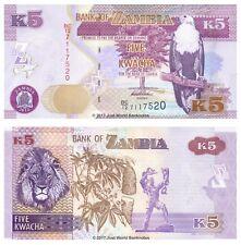 Zambia 5 Kwacha 2012 P-50 Banknotes UNC