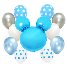 Blue Polka dots Baby Shower birthday Party Mickey Mouse Foil Balloon Decorations