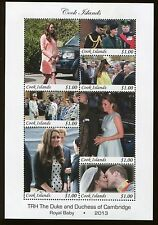 COOK ISLANDS #1459 Souvenir Sheet Royal Baby Prince Will & Kate Middleton - 42