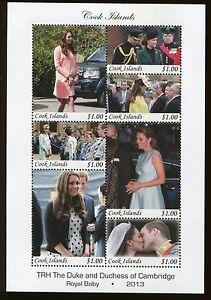 COOK ISLANDS #1459 Souvenir Sheet Royal Baby Prince Will & Kate Middleton - 42