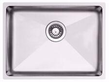 588 x 435mm Undermount/Inset Deep Single Bowl Stainless Steel Kitchen Sink LA018