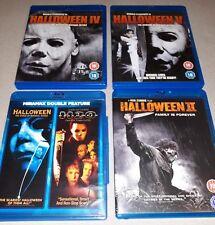 Halloween movies blu-ray collection (Halloween 4, 5, 6, H2O, Zombie Halloween 2)
