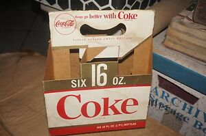 Coca Cola Card Board Six Bottle Carrier Holder Things go better with Coke logo