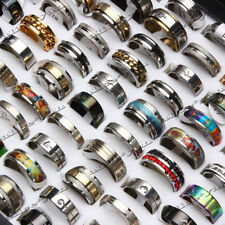 Wholesale 10pcs mix lot stainless steel rings fashion jewelry Wedding Ring FREE
