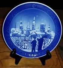 """Royal Copenhagen 1988 Christmas Plate """"Christmas Eve in Copenhagen"""""""