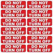12 X no apague Vinilo Impreso calcomanías Etiquetas Para Socket Plug Interruptor De Luz