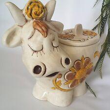 Vintage Treasure Craft Daisy Cow ~ Cookie Jar ~ 1960's ~ Mwob ~ Euc ~ Sooo Cute!