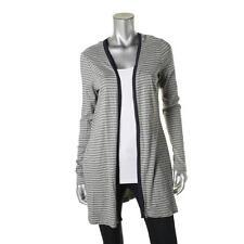 Three Dots 8002 Womens Maddy Gray Striped Open Front Cardigan Top Shirt XL BHFO
