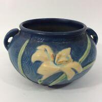 Roseville Pottery Blue Zephyr Lily Jardiniere 671-4