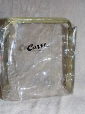 Liz Claiborne Curve GREEN Clear Makeup Cosmetics Vynil Bag with Handle New