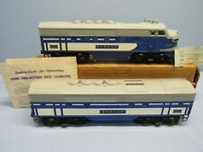 LIONEL 1955 #2367 A-B WABASH DIESEL LOCOMOTIVES WITH POWER BOX  (NO RESERVE)