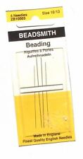 Beadsmith English Beading Needles  -   #10 & 13 -  2 Each Size
