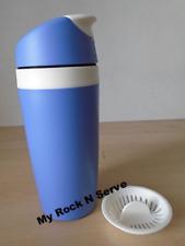 Tupperware Classic Insulated Commuter Strainer Mug 14 oz Pastel Blue Brand New