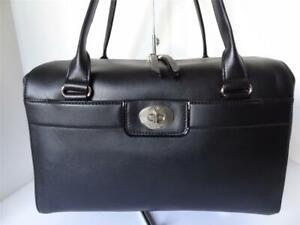 KATE SPADE Hampton Rd Colette BLACK Leather Satchel Handbag Purse NWT MSRP $398