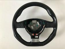 VW SCIROCCO 2008-10 FLAT BOTTOM LEATHER STEERING WHEEL MULTIFUNCTION 1K8419091E