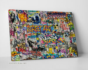 Graffiti STREET ART Wall Canvas Art Wall Art Print Picture Banksy Decor -D61
