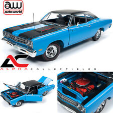 AUTOWORLD AMM1184 1:18 1969 PLYMOUTH ROAD RUNNER (PETTY BLUE)