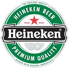 "Heineken Beer Color Vinyl Decal Sticker - You Choose Size 2""-28"""