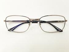 Kirkland RX Eyeglasses Frames 58 18 140 Brushed Gunmetal Spring Hinge Wire Rim