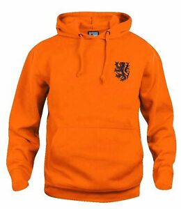 Holland Netherlands 1970s Retro Football Hoodie Embroidered Crest S-XXXL