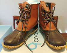 NWT Cold Front Mens Winter Boots ~ ORIGINAL 5 EYE ~ Size 10 ~ Brown Leather