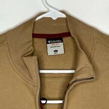 Columbia Mens Zip Up Sweater LS Beige XL