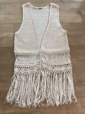 Crochet Fringe Vest Boho Hippy Festival Costume