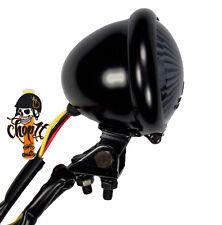 LED Motorradrücklicht Rücklicht im Bates Style schwarz smoked Bobber Chopper