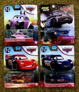4 x Mixed Disney Pixar Cars DRAG RACING STORM RUSTEZE & FABULOUS MCQUEEN SEALED