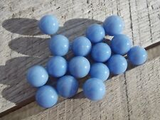 "16 Vintage Champion Agate Blue Marbles 9/16"" Mint- to NM"