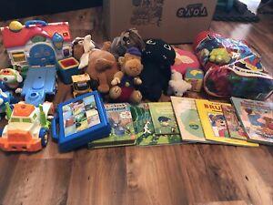 spielzeugpaket kleinkind Baby Mega Bloks Bücher Puzzle Plüschtier Auto
