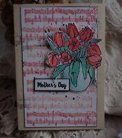 Muttertag Glückwunschkarte Karte für Mutter Oma edle Handarbeit
