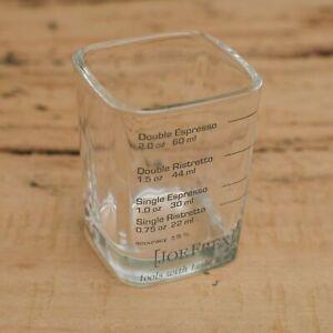 Espresso Shotglass Measure for ristretto, espresso & double shots