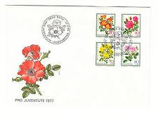 Schweiz  FDC Ersttagsbrief 1977 Rosen Mi.Nr.1112-15