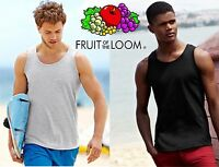 FRUIT of THE LOOM Canotta UOMO MAGLIETTA T Shirt NO Maniche COTONE canottiera #
