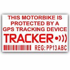 Motorbike Security Stickers-Alarm,GPS,Tracker Device -Motorcycle Bike Warning-2
