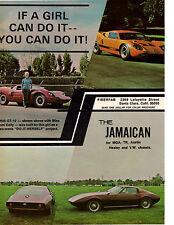 1968 FIBERFAB GT-12 / JAMAICAN KIT CAR  ~  NICE ORIGINAL AD