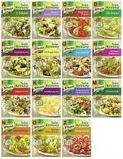 Salat Kronung Salad Herbs from Knorr Germany 14 diff. flavors, 6x5 flavors=30pcs