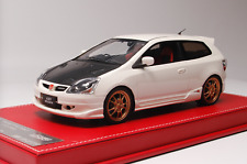 1/18 NYX Mugen Honda Civic Type R EP3 from 2004 in Gloss White Leather base