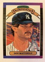 1988 DONRUSS DIAMOND KINGS DON MATTINGLY # 26 NEW YORK YANKEES MLB BASEBALL CARD