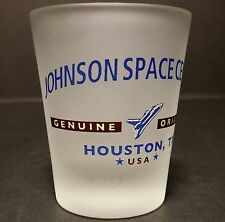 Johnson Space Center Genuine Original Houston Space Shuttle Frosted Shot Glass