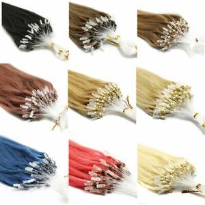Micro Loop Hair Extensions Micro Ring Beads Loop Tip Remy Human Hair 100s-200s