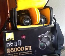 NIKON D5000 Doble Zoom Kit (18-55) (55-200) + Bolso KATA (impecable)