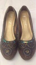 Kos - Scarpe da donna - colore grigio con paillettes - N° 40 - tacco decorato