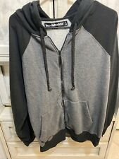 Hoodiebuddie Mens Gray And Black Sweatshirt Size Large
