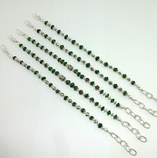 BRACELET NATURAL GREEN AVENTURINE GEMSTONE 5MM BEADED 47.5 GM 5 PIECES EACH LOT