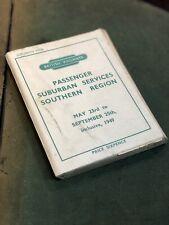 More details for british railways passenger suburban services souther region 1949 timetables